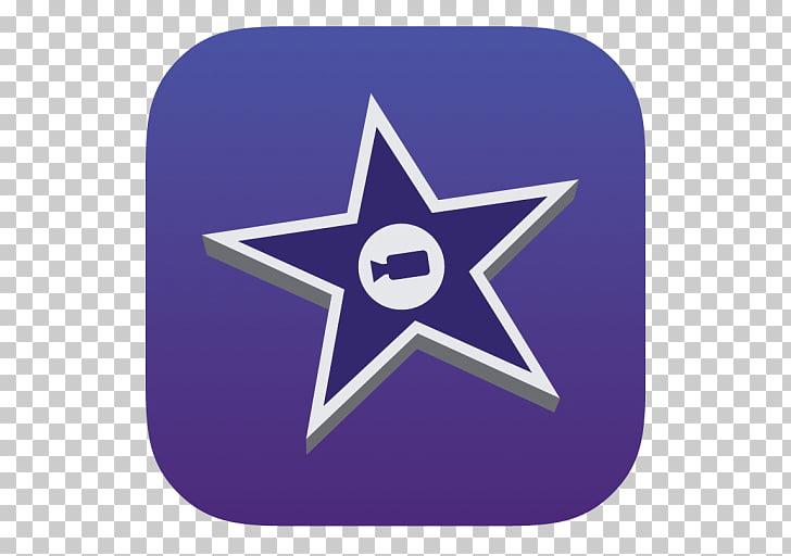 Electric blue star purple symbol cobalt blue, iMovie, star.