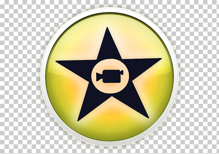 Symbol yellow, iMovie, black and yellow star logo PNG.