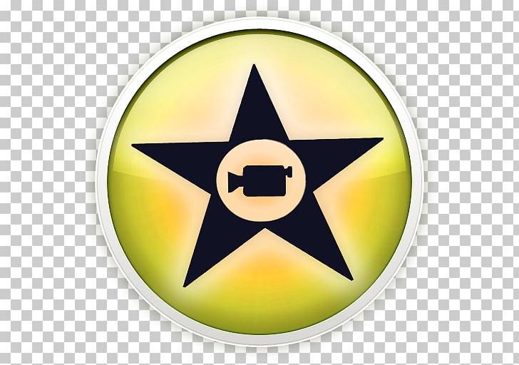 Symbol yellow, iMovie, black and yellow star logo PNG.