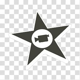 Mac OS X Mavericks icons, iMovie, black star icon.
