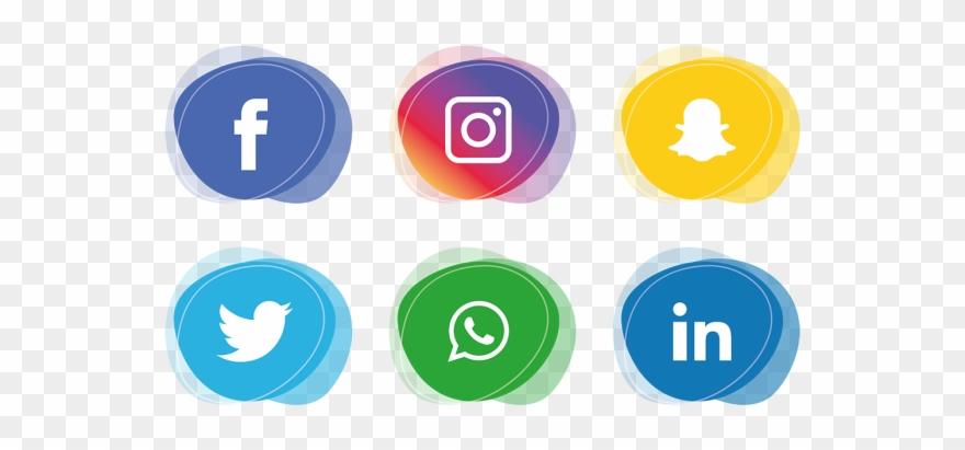 Vector Royalty Free Social Media Icons Set Facebook.