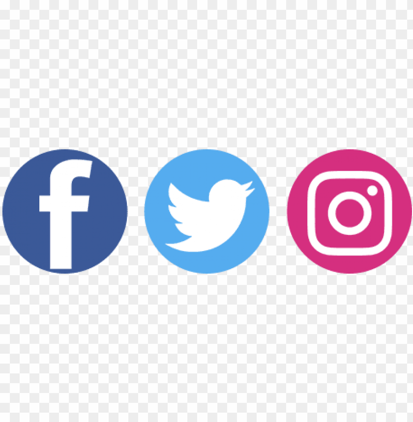 facebook twitter instagram logo hd PNG image with.