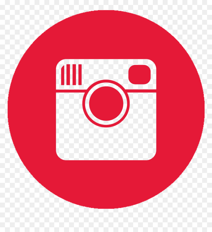 Instagram Logo With Red Background, HD Png Download.