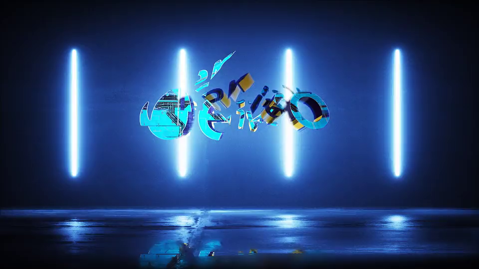Cyber Glitch Logo Intro After Effects Template free download.