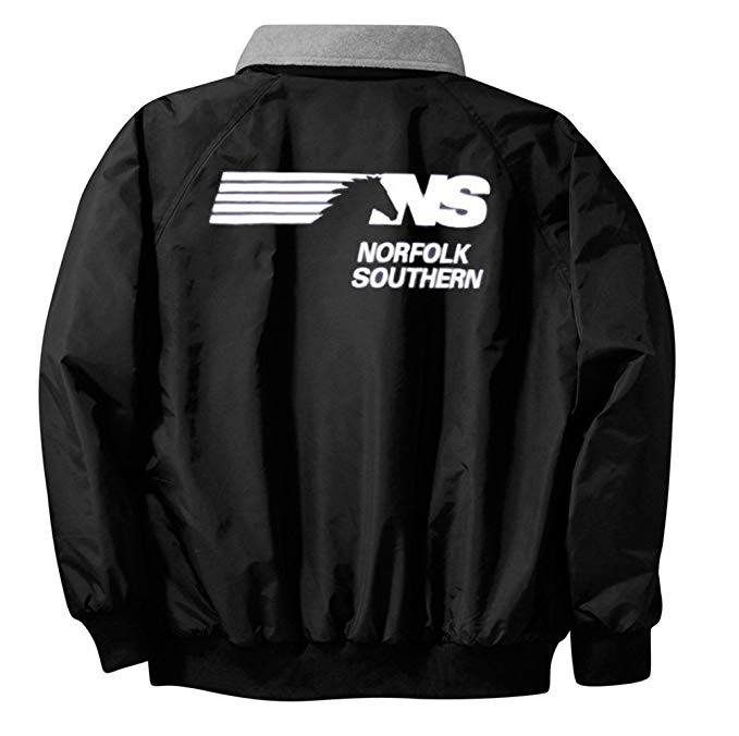 Norfolk Southern Thoroughbred Logo Embroidered Jacket Front and Rear [68r].