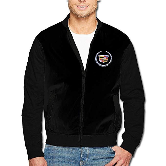 Syins Design Men General Motors Cadillac Logo Fashion Jacket.