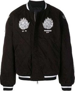Maharishi logo quilted bomber jacket.