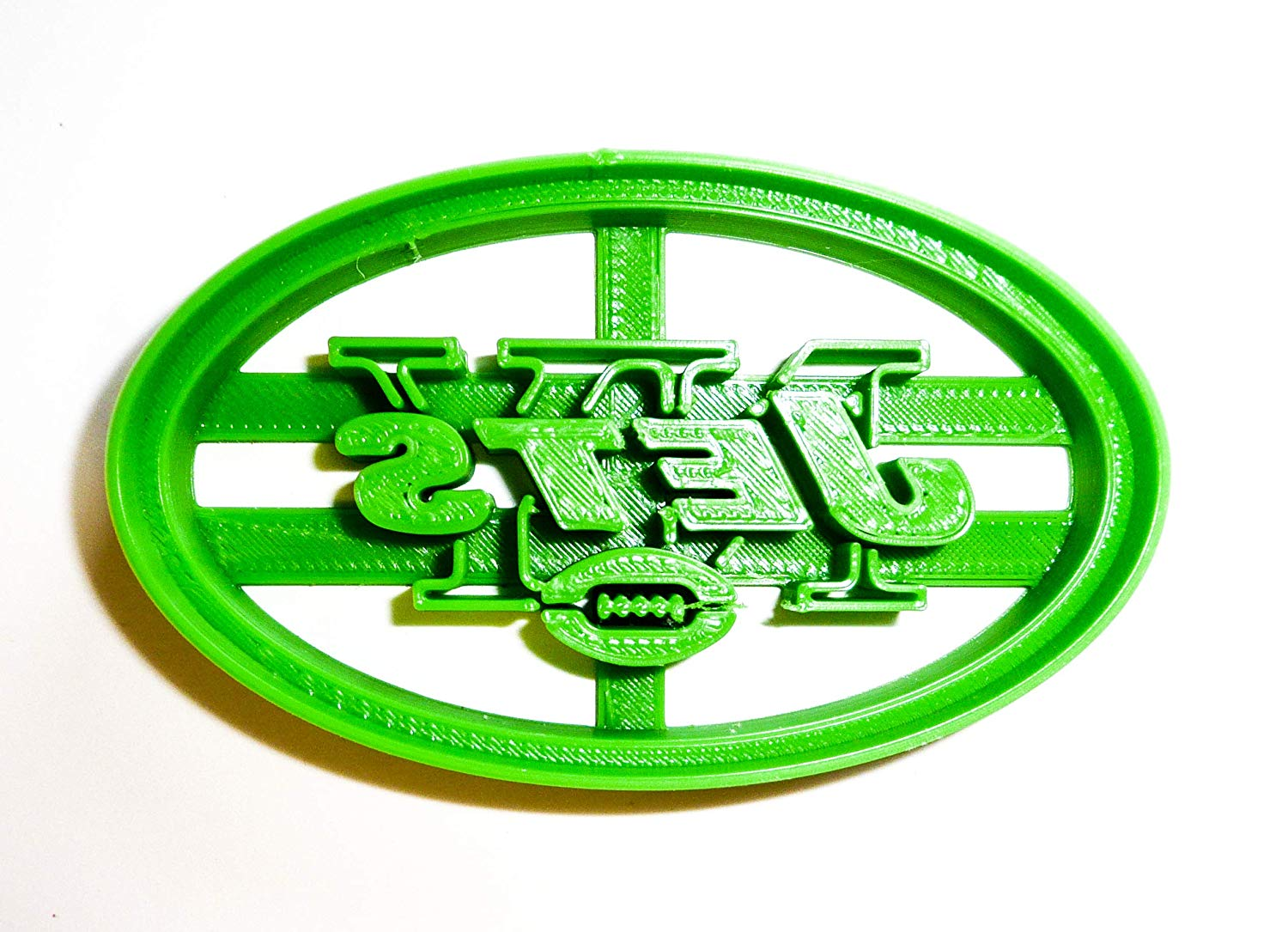 NEW YORK JETS NFL FOOTBALL LOGO SPECIAL OCCASION FONDANT STAMP CUTTER OR.