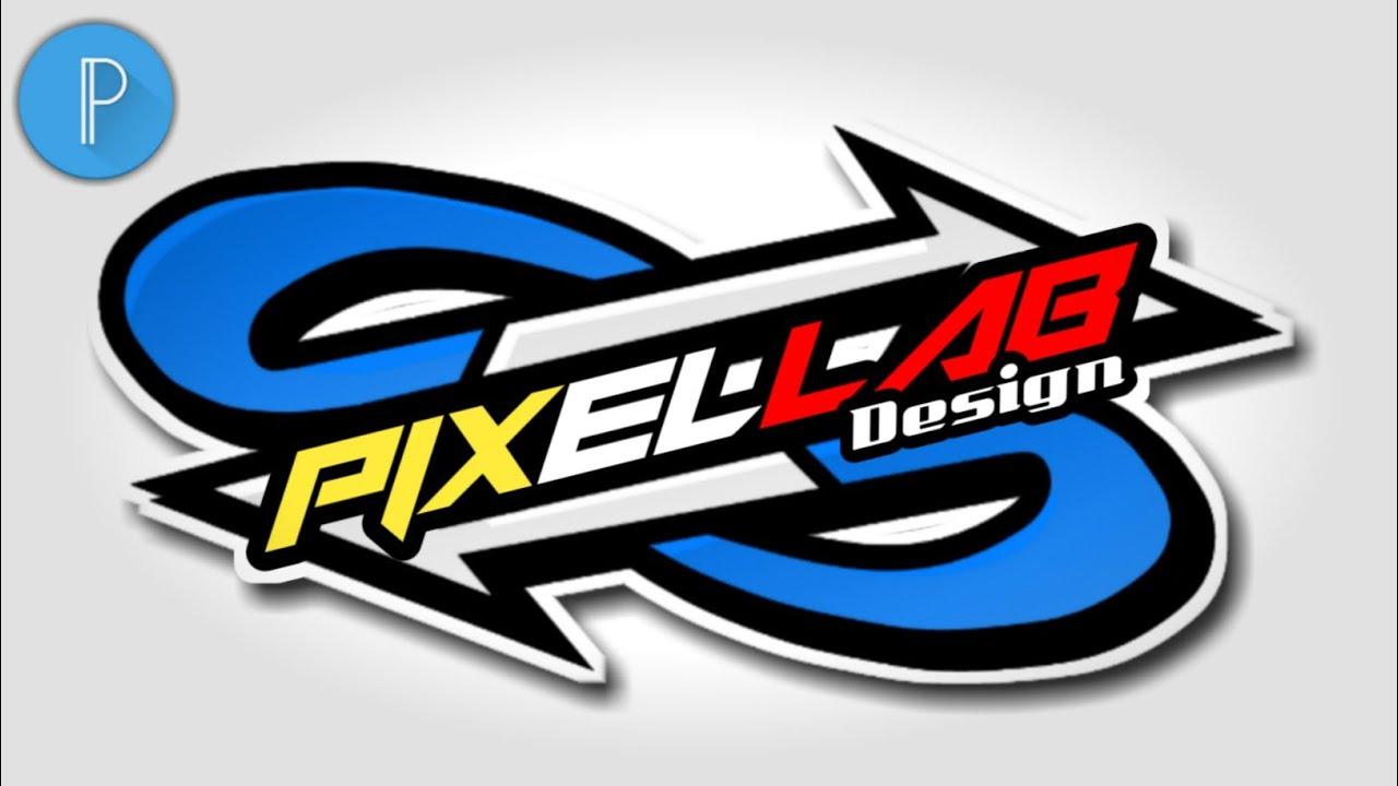 Tutorial membuat logo keren di PixelLab.