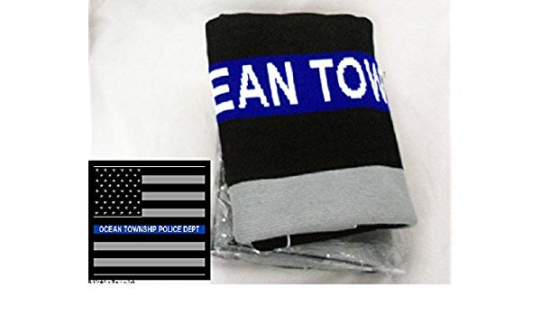 Amazon.com: Logo Knits Throw Blanket Custom Thin Blue Line.