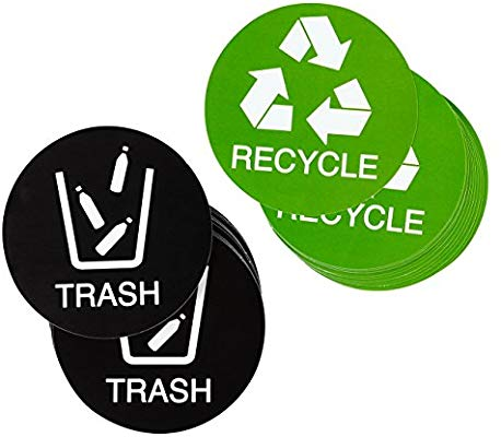 Juvale Recycle Stickers Trash Signs.