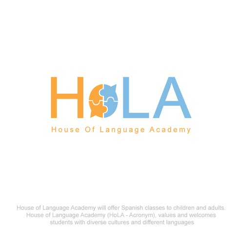 Design a logo for a language school.