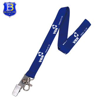 Silkscreen Printing Lanyard Metal Clip Custom Logo Neck Lanyards Id Card  Lanyard With Sample Free.