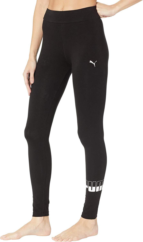 PUMA Women\'s Rebel Logo Leggings Puma Black X.