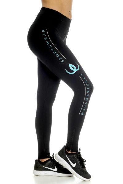 Logo Leggings Turquoise.
