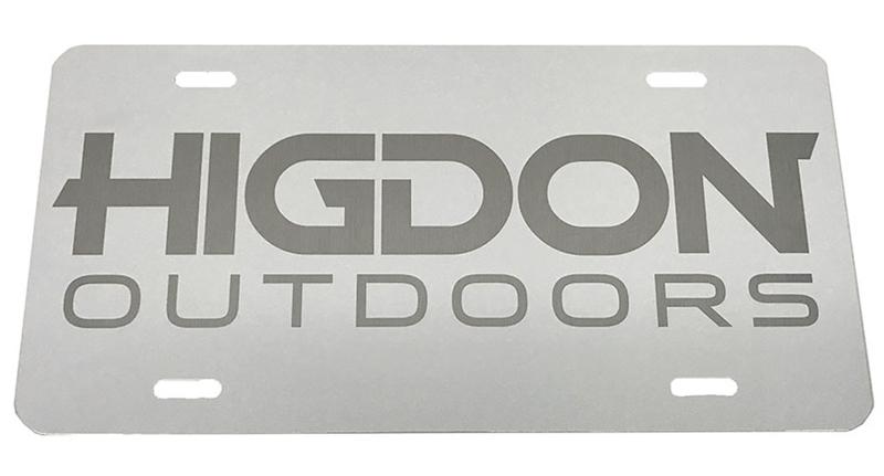Painted Aluminum Logo License Plate.