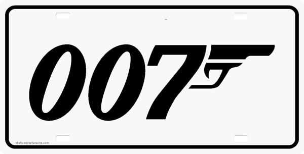 007 Logo License Plate, License Plate, License Tag, Novelty.