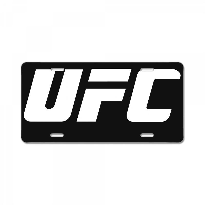 Ufc White Logo License Plate. By Artistshot.