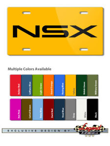 Details about Acura Honda NSX Badge Emblem Logo Novelty 6X12 Aluminum  License Plate 16 Colors.