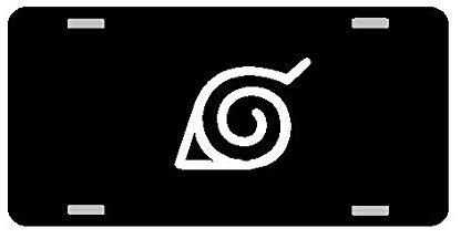 NARUTO Logo License Plate Gloss black.