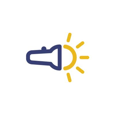 Flash Light Logo Template for Free! Vector freebie logo!.