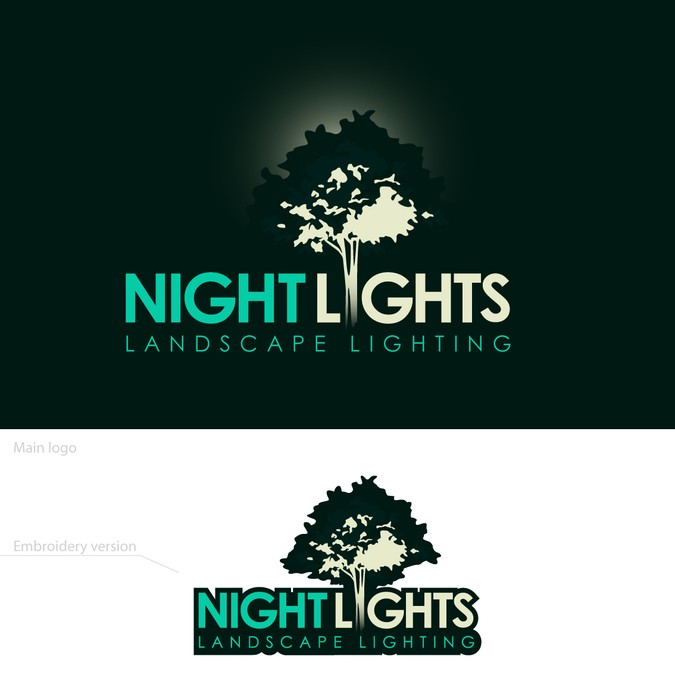 Landscape Lighting Logo Design.