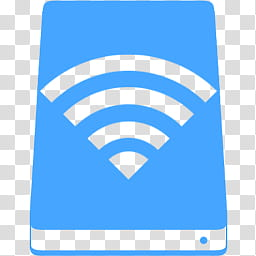MetroID Icons, WiFi logo with blue background transparent.