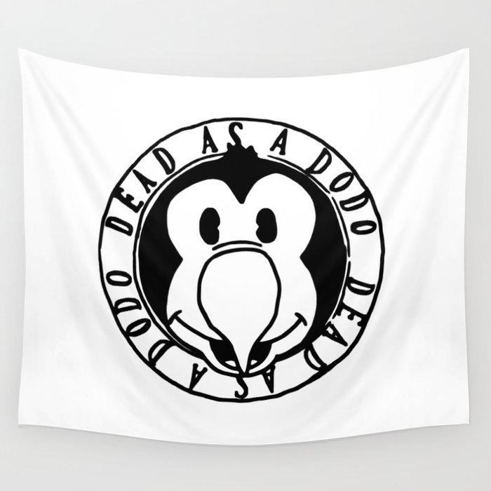 Dead As A Dodo Logo Wall Tapestry.