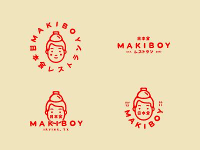 Maki Boy Logo Lockups.