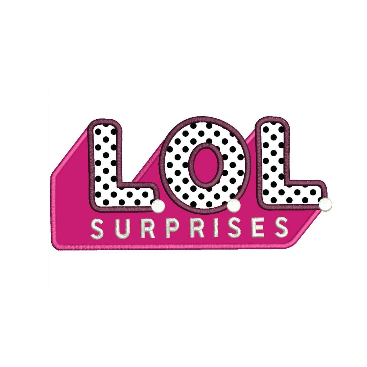 LOL Surprise Logo Applique Design.
