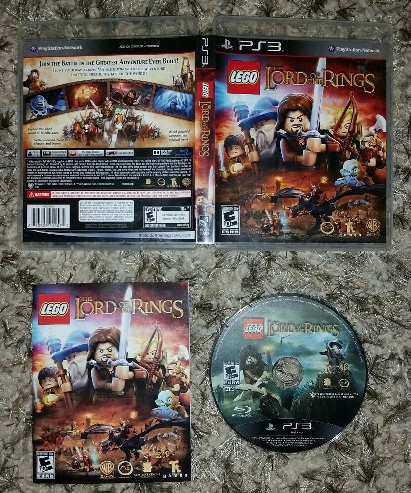 LEGO Lord of the Rings (PlayStation 3 PS3) COMPLETE TESTED.