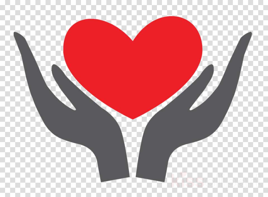 red logo love hand gesture clipart.