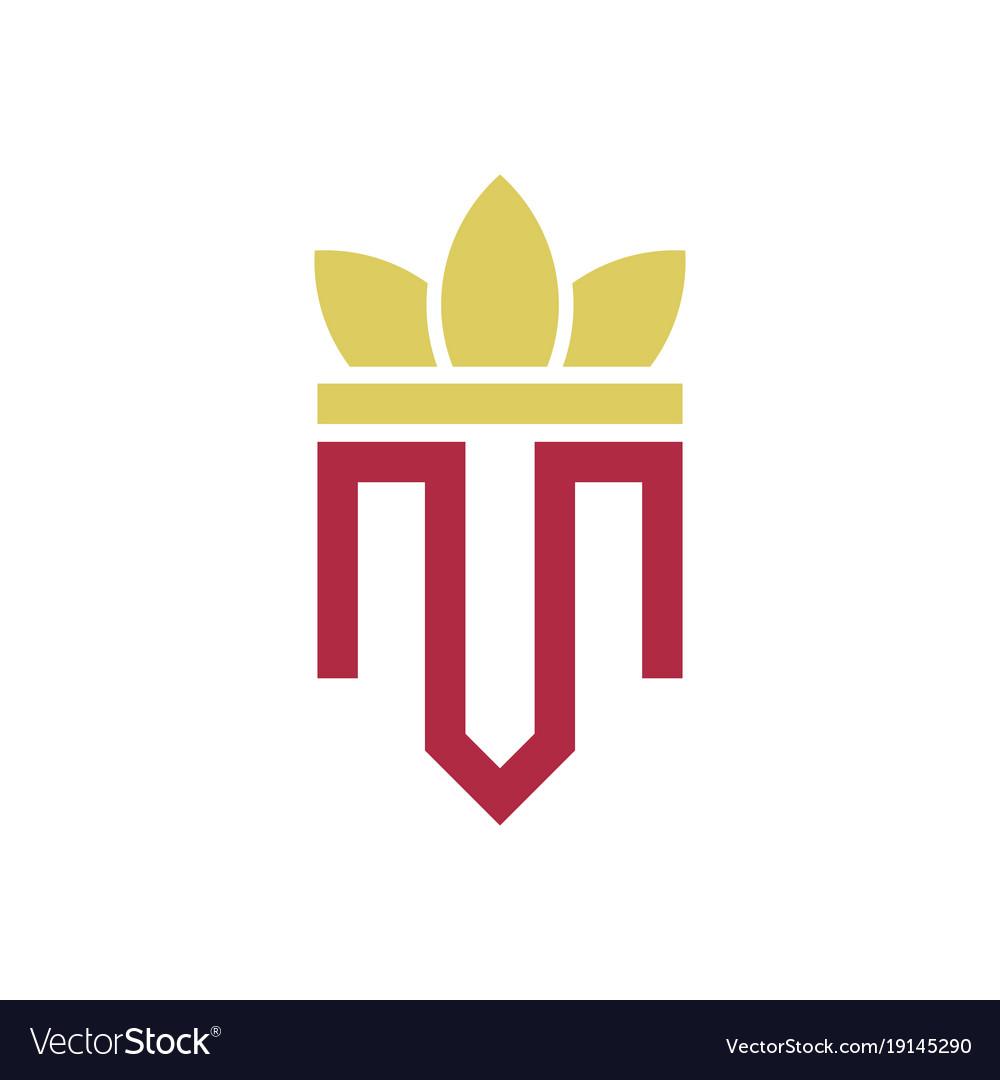 Crown letter m logo.