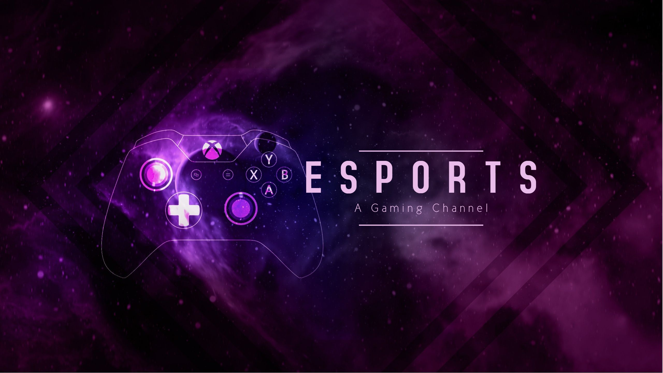 Esports YouTube gaming cover art template design..