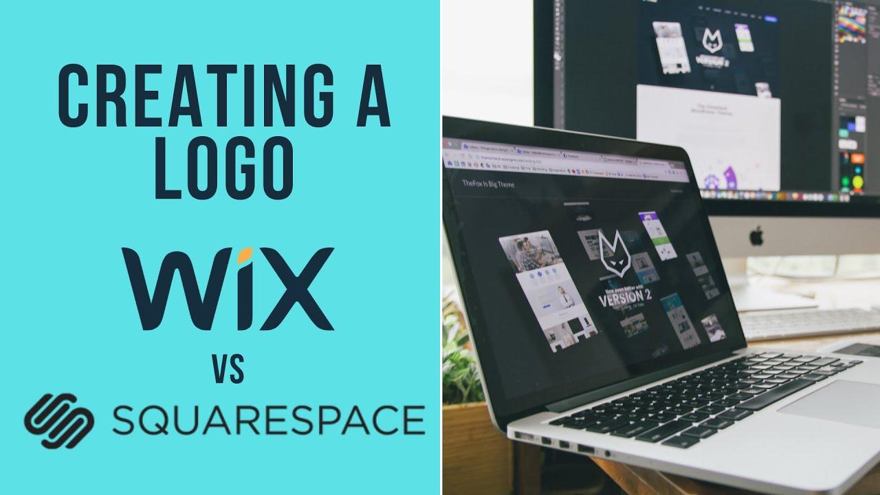 WIX Logo Maker VS Squarespace.