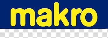 Makro text, Makro Belgium Logo transparent background PNG.