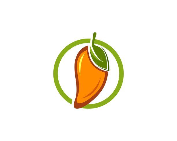 Mango fruits vector logo symbol.