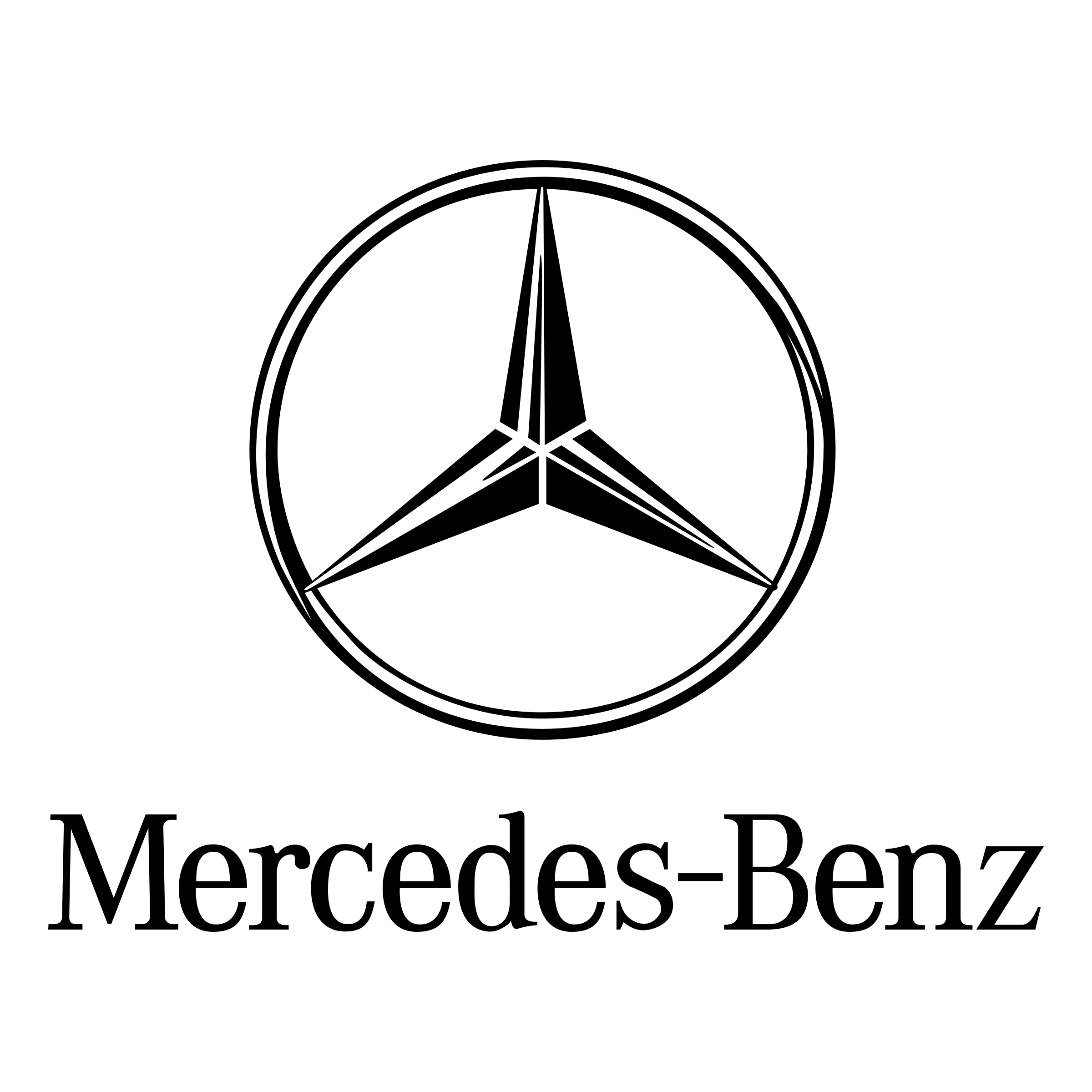 Mercedes Benz Logo PNG Transparent & SVG Vector.