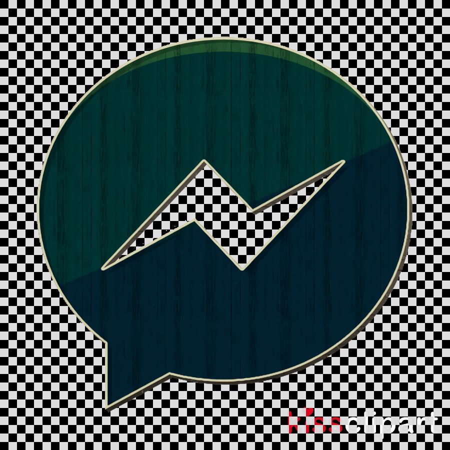 Facebook icon Messenger icon Social media icon clipart.
