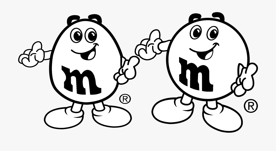 M&m\'s Logo Black And White.