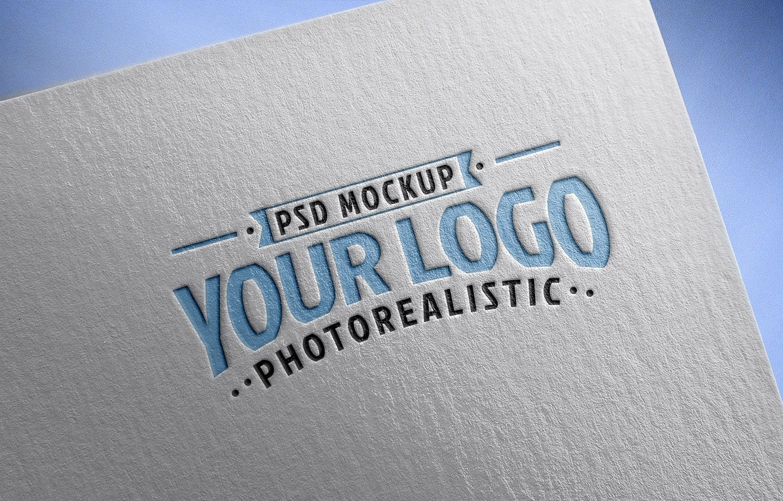Free Logo Mockup PSD on Textured Paper.