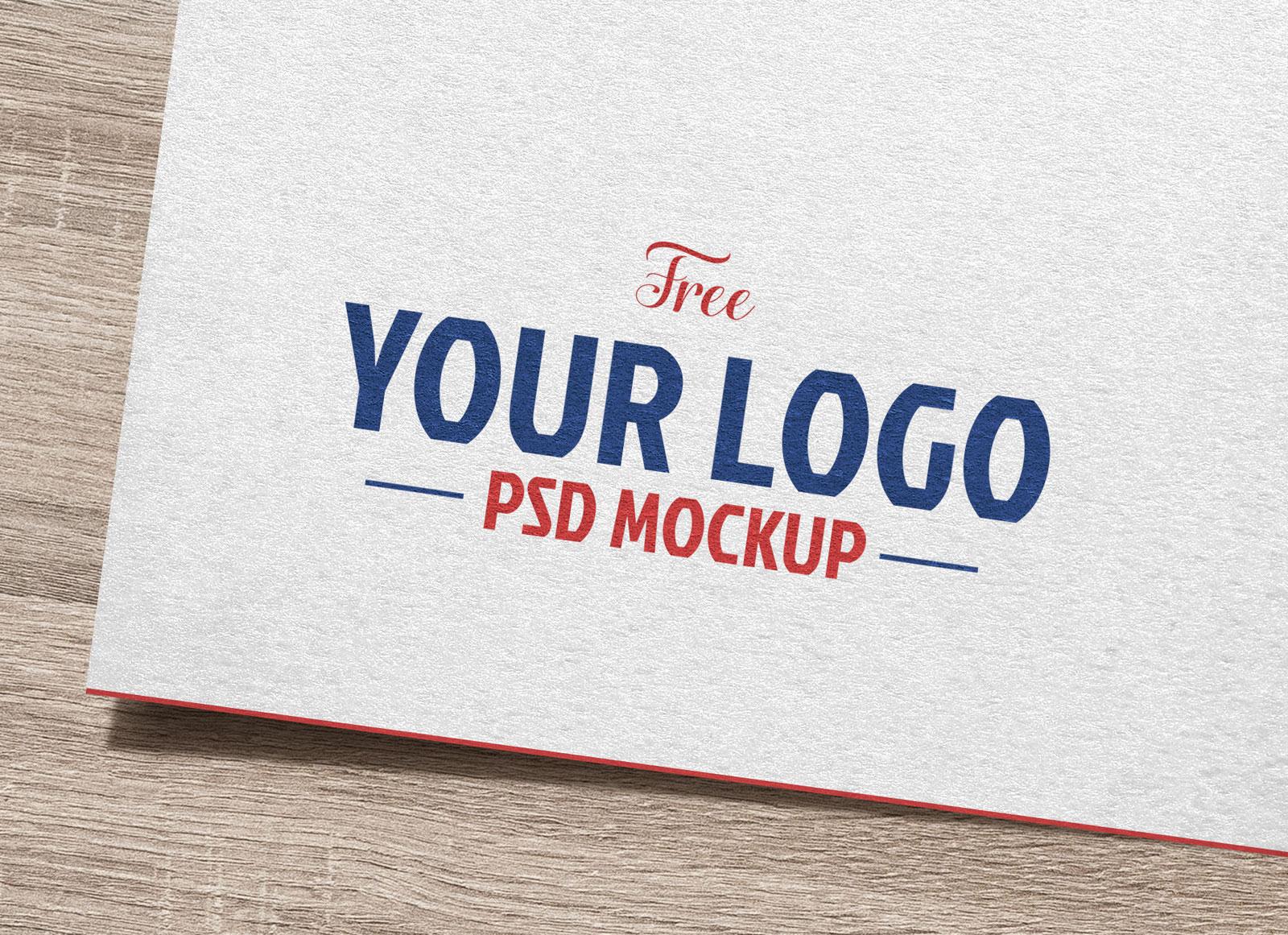 Free Natural White Paper Logo / Logotype Mockup PSD.