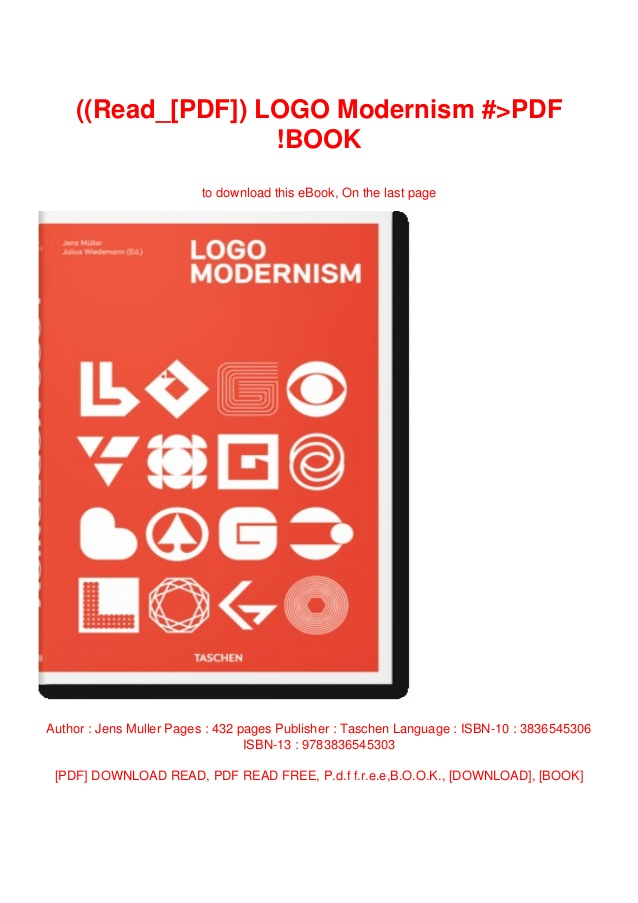 Read_[PDF]) LOGO Modernism #>PDF !BOOK.