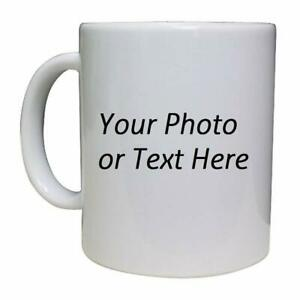 Details about Personalized Coffee Mugs Cups Custom Printed with Your Own  Text/Photo/Logo.