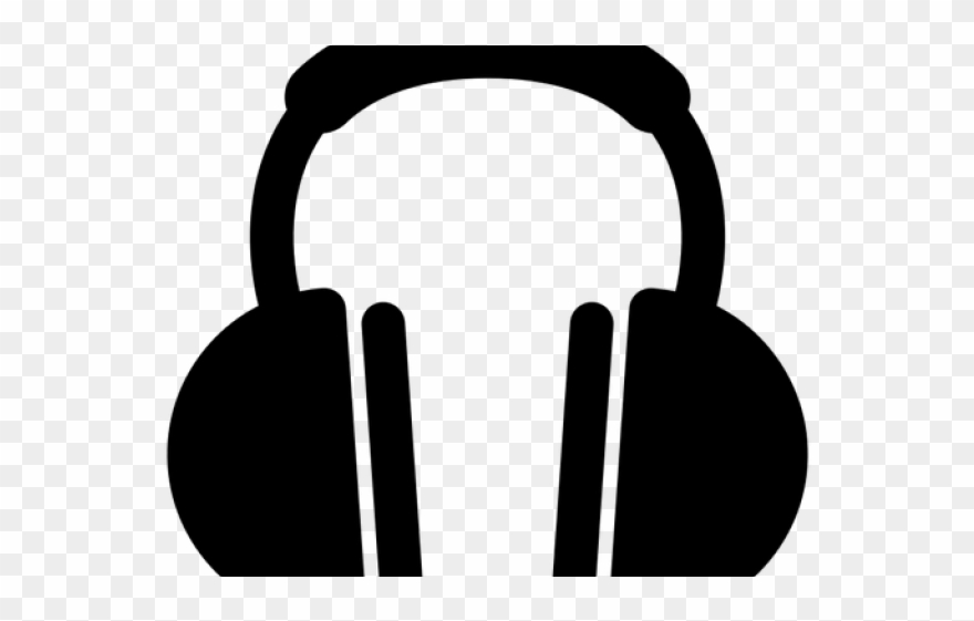 Headphone Clipart Logo.
