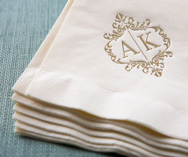 Wedding Logo Cocktail Napkins Wedding Logo Napkin.