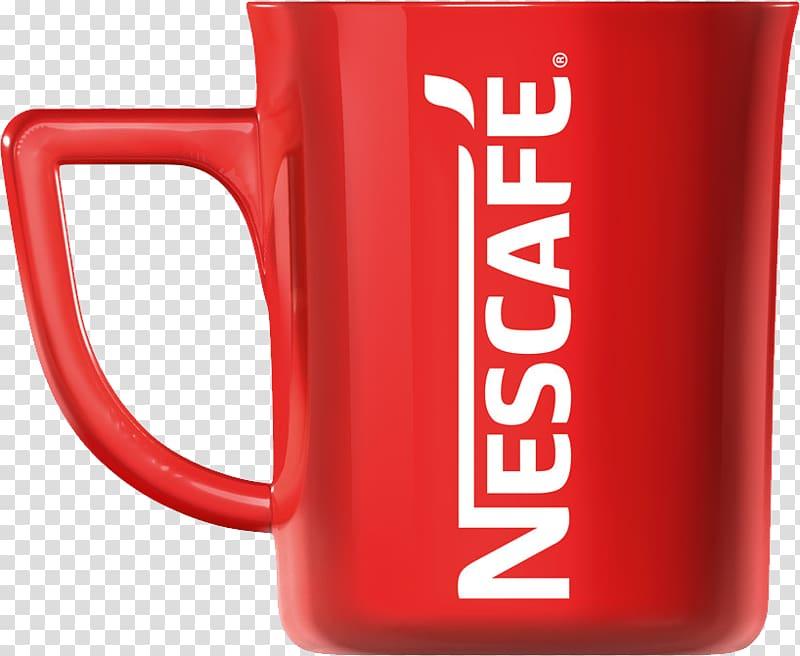 Red and white Nescafe coffee mug, Coffee Espresso Tea Mug.