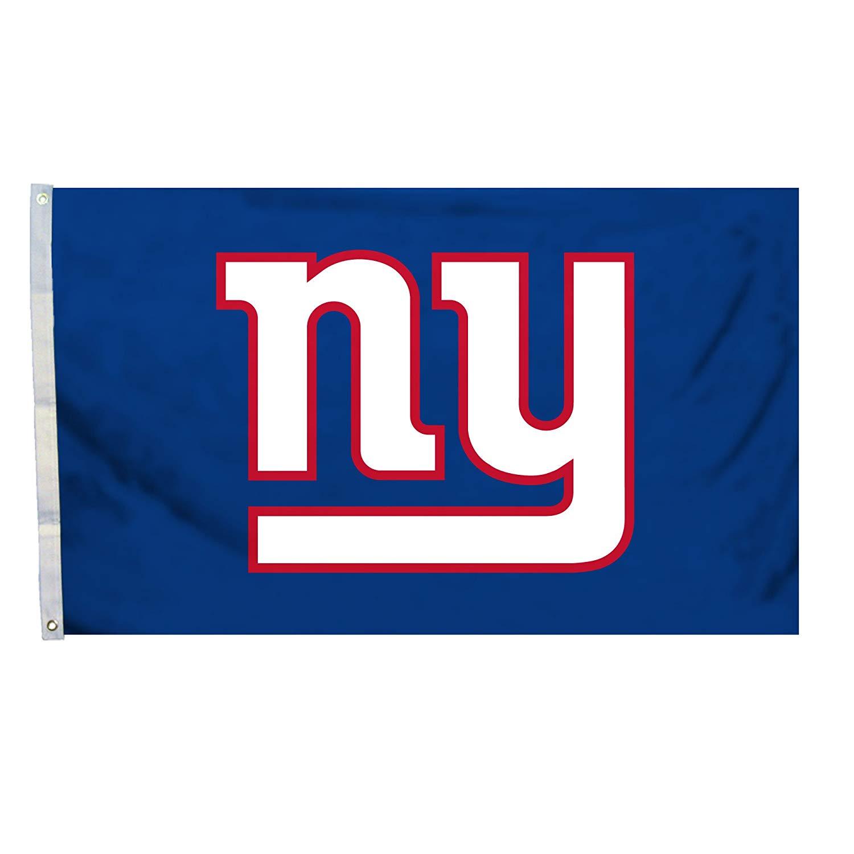 Fremont Die NFL Flag with Grommets, New York Giants, Logo.
