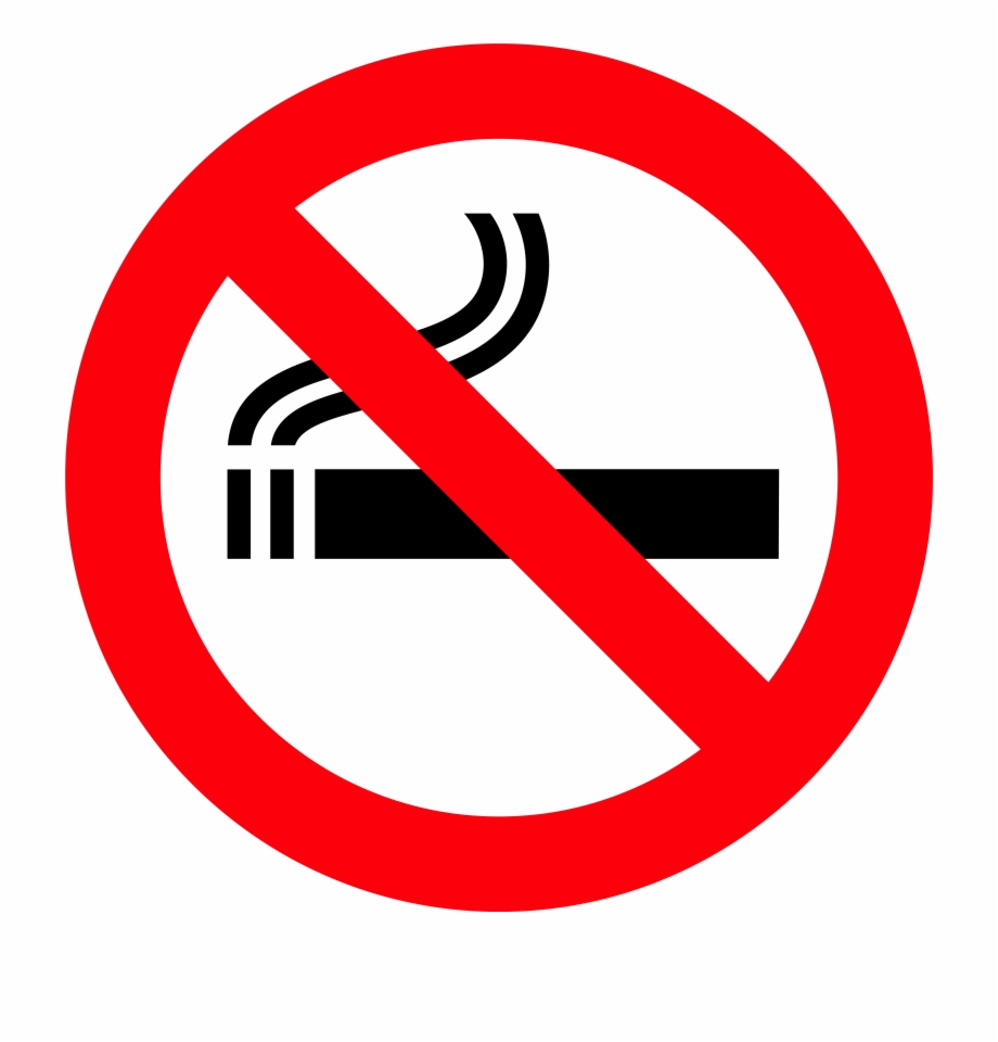 No Smoking Sign Png Clipart.