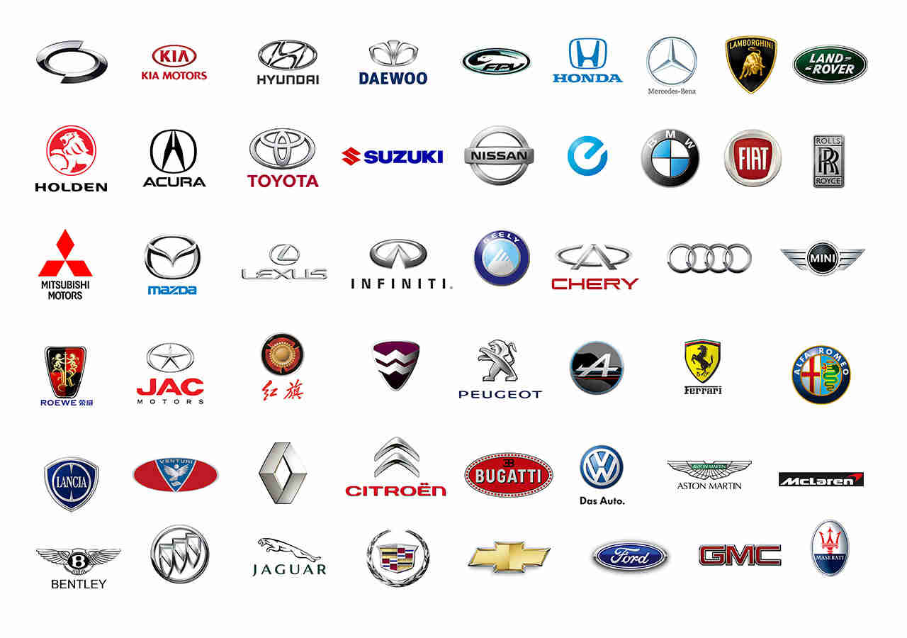 All Car Brands List and Car Logos By Country & A.